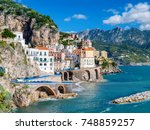 the amalfi coast in italy | Shutterstock . vector #748859257