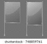 display stand glass. vector... | Shutterstock .eps vector #748859761