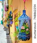 the italian island sardinia in...   Shutterstock . vector #748862254