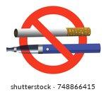 no smoking no vaping sign ban... | Shutterstock .eps vector #748866415