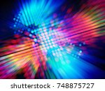 colorful background for disco... | Shutterstock . vector #748875727