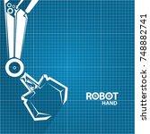 vector robotic arm symbol on... | Shutterstock .eps vector #748882741