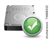 vector hard disk drive icon... | Shutterstock .eps vector #74888332
