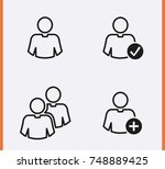 account user icon. manager man... | Shutterstock .eps vector #748889425