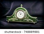 decorative table clock. clock... | Shutterstock . vector #748889881