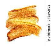 vector gold paint smear stroke... | Shutterstock .eps vector #748892521