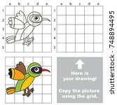 copy the picture using grid... | Shutterstock .eps vector #748894495