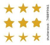 gold star icons set  various...   Shutterstock .eps vector #748895461
