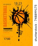 design for basketball. poster... | Shutterstock .eps vector #748899175