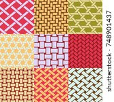 patterns collection of... | Shutterstock .eps vector #748901437
