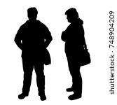 vector silhouettes of men... | Shutterstock .eps vector #748904209