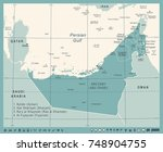 united arab emirates map  ... | Shutterstock .eps vector #748904755