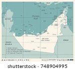 united arab emirates map  ... | Shutterstock .eps vector #748904995