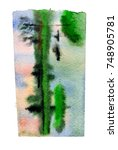 watercolor blotch | Shutterstock . vector #748905781