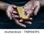 dirty hands homeless poor man...   Shutterstock . vector #748906591
