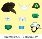 Set Of Different Doctor's Hats