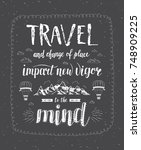 travel. vector hand drawn... | Shutterstock .eps vector #748909225