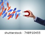 businessman in recruitment... | Shutterstock . vector #748910455
