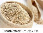 wheat bran or oat bran for...   Shutterstock . vector #748912741