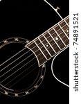 classical guitar closeup  ... | Shutterstock . vector #74891521