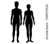 vector silhouettes of man and... | Shutterstock .eps vector #748919524