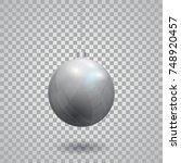 silver christmas ball. new year ... | Shutterstock .eps vector #748920457