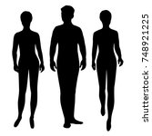 vector silhouettes of man and... | Shutterstock .eps vector #748921225