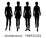 vector silhouettes of woman... | Shutterstock .eps vector #748921231