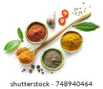 various spices isolated on... | Shutterstock . vector #748940464