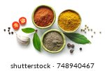 various spices isolated on... | Shutterstock . vector #748940467