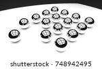 metal glossy balls in a row on...   Shutterstock . vector #748942495