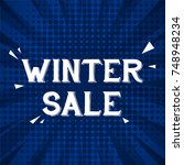 winter sale greeting card... | Shutterstock .eps vector #748948234
