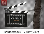 online cinema background with... | Shutterstock .eps vector #748949575