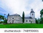 view of the lutheran cathedral  ... | Shutterstock . vector #748950001