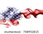united states flag smoke  us... | Shutterstock . vector #748952815