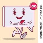 message chat character vector... | Shutterstock .eps vector #748955101