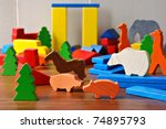 Tiny Colorful Wooden Toy Shape...