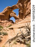 Small photo of Double Arch at Arches National Park, Utah, USA