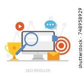 seo reseller banner. personal... | Shutterstock . vector #748958929