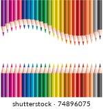 Vector Set Of Colored Pencils   ...