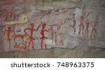 archaeological pre historic... | Shutterstock . vector #748963375