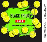 black friday banner. black... | Shutterstock .eps vector #748968739