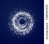 huge hurricane  tornado ... | Shutterstock .eps vector #748969429