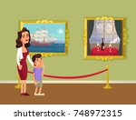 mother and sun character... | Shutterstock .eps vector #748972315