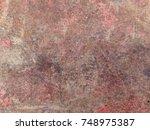 rusted steel | Shutterstock . vector #748975387