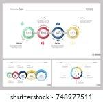three teamwork slide templates... | Shutterstock .eps vector #748977511