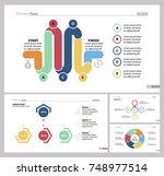 four teamwork slide templates... | Shutterstock .eps vector #748977514