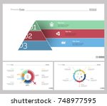 three business slide templates... | Shutterstock .eps vector #748977595
