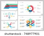 five strategy slide templates... | Shutterstock .eps vector #748977901