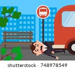 unfortunately businessman... | Shutterstock .eps vector #748978549